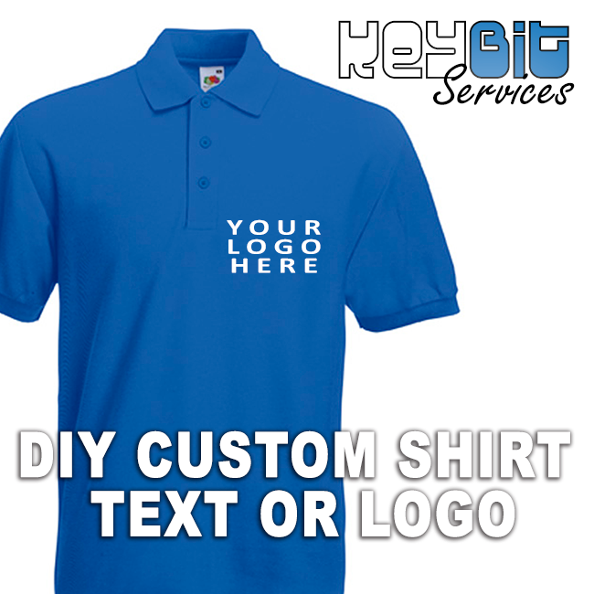 Diy custom shirt logo personalised polo logos t shirts for Name printed t shirts online